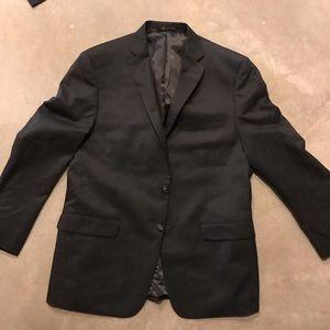 42R dark gray blue undertone suit blazer